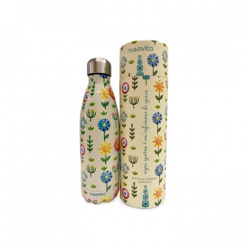Neavita - Bottiglia thermos fiori 500 ml