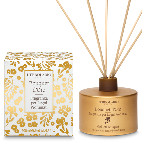 L'Erbolario - Bouquet d'Oro Fragranza per Legni 200 ml