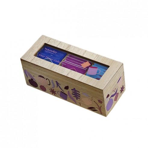 Neavita - Cofanetto di legno Viola bio a 3 scomparti