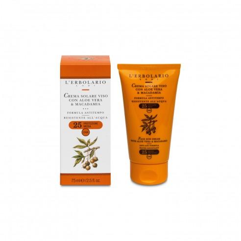 L'Erbolario - Crema solare viso con Aloe Vera & Macadamia SPF25